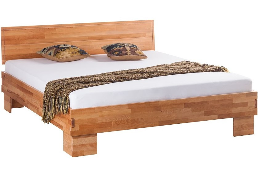 Кровать полуторная B113 140х200 дерево бук ТМ Mobler