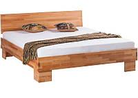 Кровать полуторная B113 140х200 дерево бук ТМ Mobler, фото 1