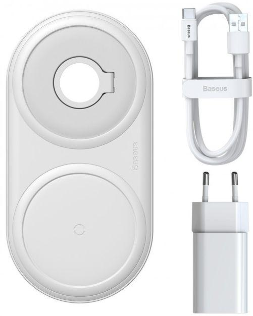 Беспроводное (индукционное) зарядное устройство Baseus Planet 2in1 Wireless Charger 12V 2A + USB Type-C 3A