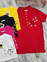 Женская летняя футболка-поло Ромашка норма размер 42-46,цвет уточняйте при заказе