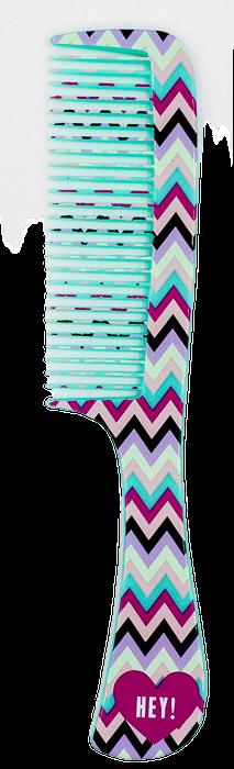 Гребень для волос La Rosa детский бирюзовый с ручкой Hey плоский 20 см (аналог 7116) 7133
