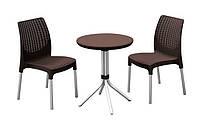 Комплект мебели для балкона Keter CURVER CHELSEA SET (2 кресла + столик) Коричневый