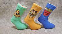 Підліткові шкарпетки середні ТЕНІС Стиль Люкс 18-20 асорті їжа