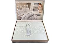 Комплект постельного белья Maison D'or Gloria White сатин 220-200 см белый