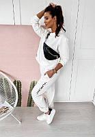 Жіночий трендовий спортивний костюм/комплект Білий, фото 1