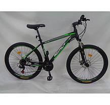 """Гірський велосипед Azimut Aqua 26"""" розмір рами 17"""" чорно-синій, фото 3"""