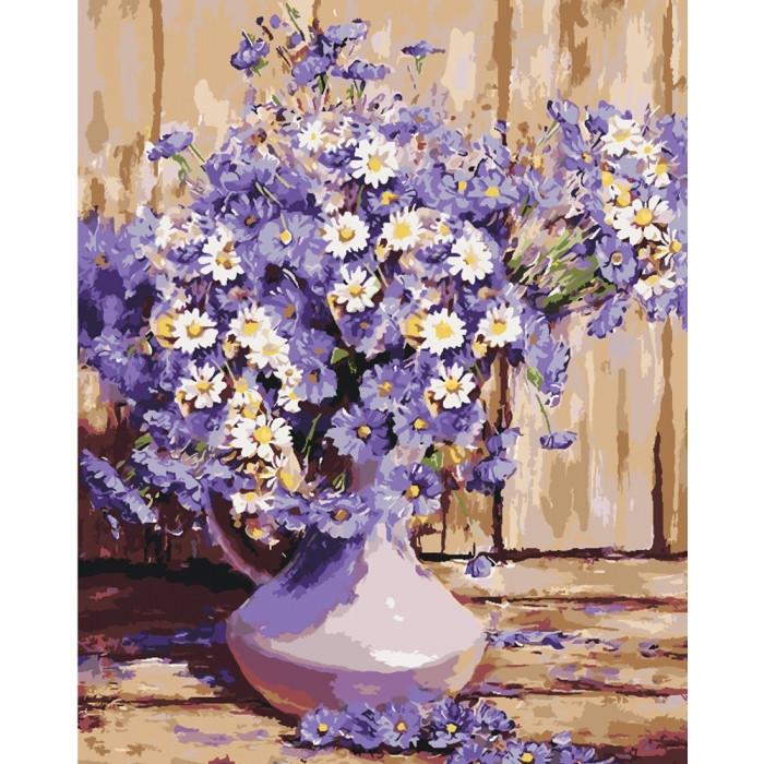 """Картина за номерами 40*50см Букети """"Букет польових квітів"""" Ідейка КНО3020"""