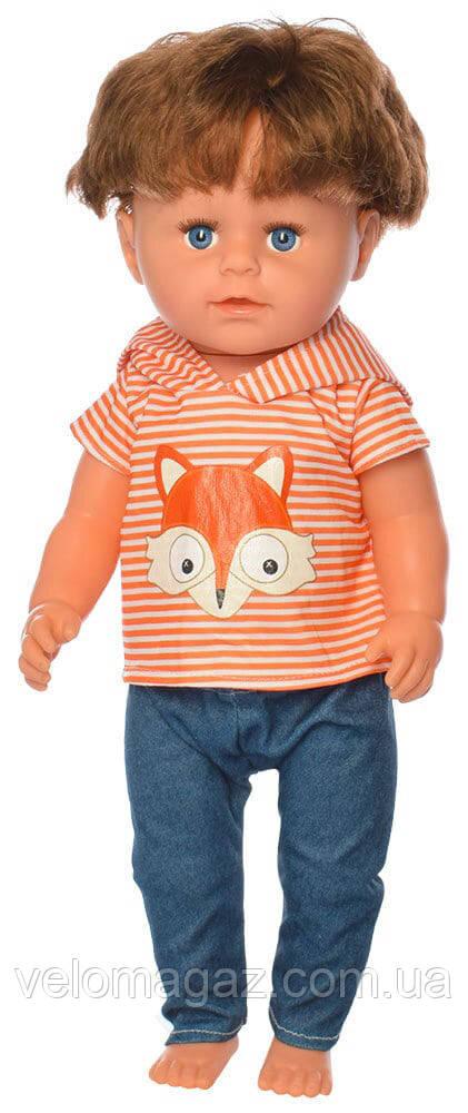 Кукла с волосами МАЛЯТКО 44 см, МАЛЬЧИК-БРАТ BLB001G, шарнирные колени