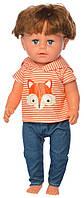 Лялька з волоссям МАЛЯТКО 44 см, ХЛОПЧИК-БРАТ BLB001G, шарнірні коліна, фото 1