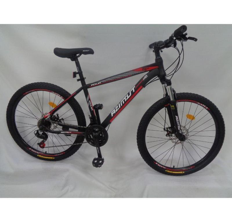 """Гірський велосипед Azimut Aqua 26"""" розмір рами 17"""" чорно-червоний"""