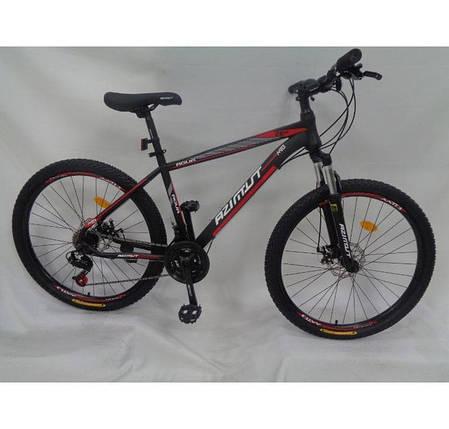 """Гірський велосипед Azimut Aqua 26"""" розмір рами 17"""" чорно-червоний, фото 2"""