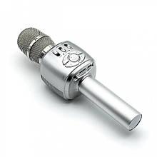 Беспроводной микрофон-колонка для караоке Joyroom external JR-MC2 Soul sound (Серебритый)