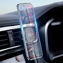 Магнитный автомобильный держатель для смартфона Rock Magnetic Air Vent (Черный)