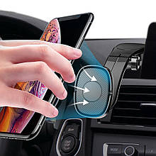 Магнитный автомобильный держатель для смартфона Rock Magnetic Dashboard (Черный)