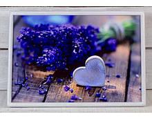 Поднос на подушке Mine Лавандовое сердце Фиолетовый (112369)