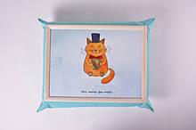 Поднос на подушке Mine Mr. Cat Голубой (112751)