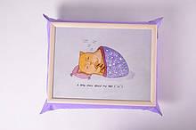 Поднос на подушке Mine Ленивый кот Фиолетовый (111782)