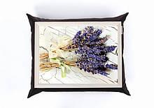 Піднос на подушці Лавандовий Букет Темно-синій (125477)