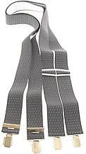 Подтяжки мужские KWM 3,6 см Серый (990008)