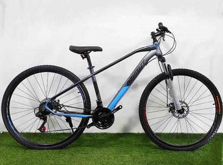 """Горный велосипед Azimut Gemin 26""""  размер рамы 15,5"""" серо-синий, фото 2"""