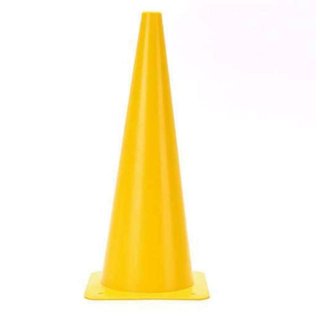 Фишка для разметки дистанции в форме конуса 38 см желтая