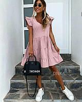 Женское летнее платье свободного фасона принт горох размер: 42-44, 46-48