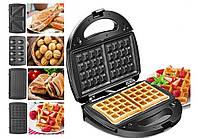 Мультимейкер 4 в 1 CROWNBERG CB 1074 700-800 Вт гриль сендвичница вафельница орешница