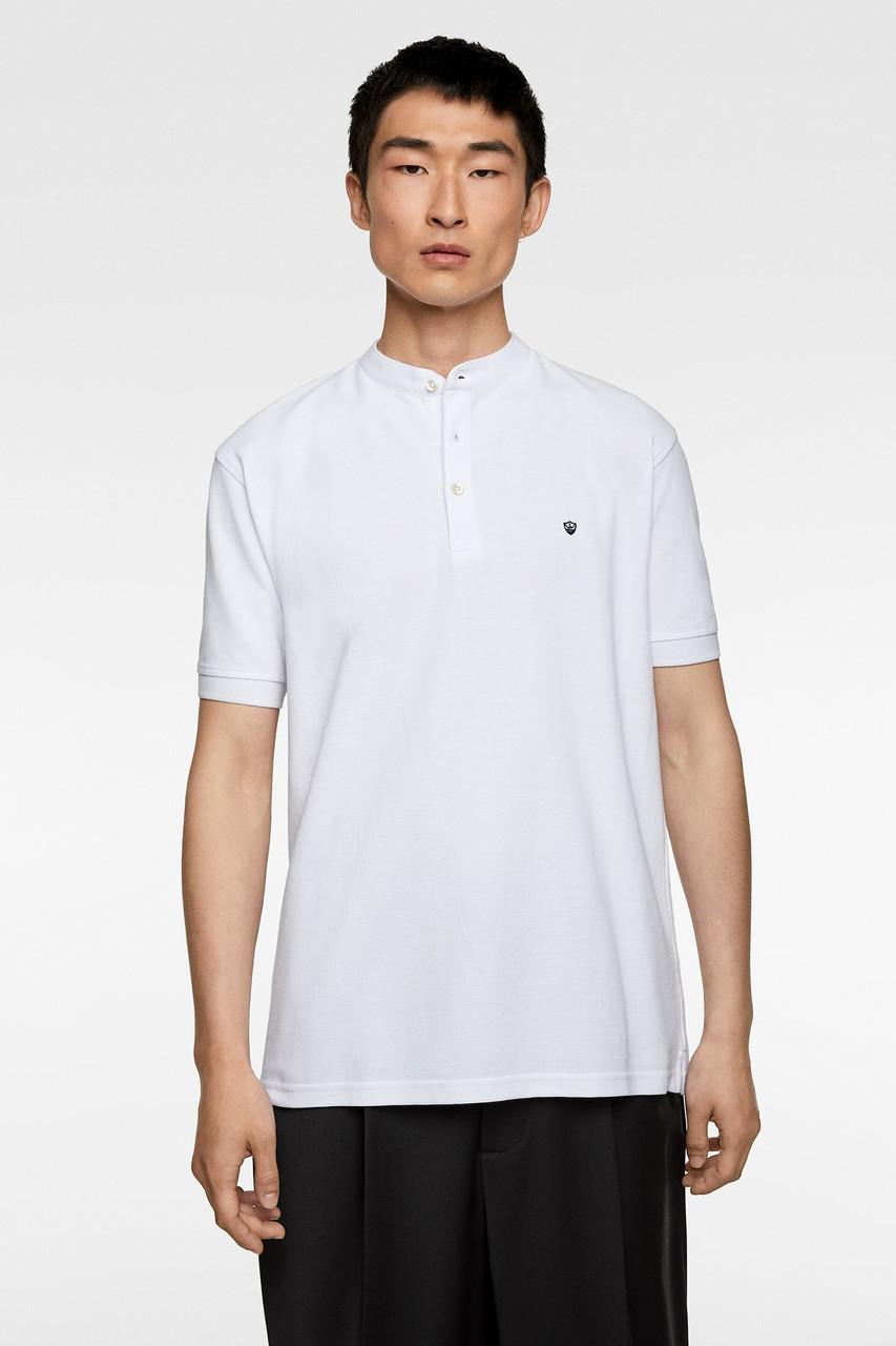 Поло мужское Zara белое (9240 422 250)