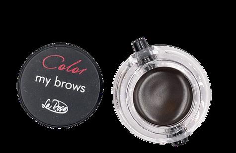 Помадка для бровей с кисточкой La Rosa Color My Brows цвет и объем EG-301 № 04 Dark brown