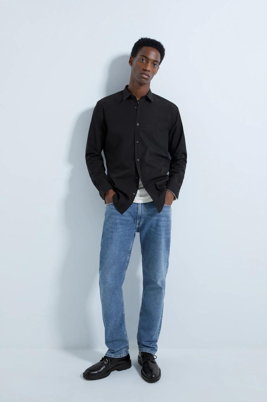 Рубашка мужская Zara черная (0072 250 800)