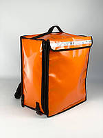 Термо рюкзак для доставки оранжевый (Глово) GL3, фото 1