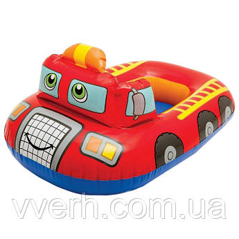 Детский надувной плотик 59586 (Пожарная машина)