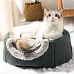 Будиночок складаний теплий піраміда для кота собаки хутряний з подушкою, фото 3