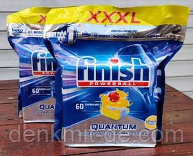 Таблетки для посудомоечной машины Finish Quantum Лимон , 60 шт.