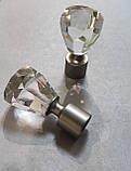 Карниз для штор металлический ЛУЧЕТТА однорядный 16мм 2.4м Цвет Сатин никель, фото 2