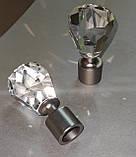 Карниз для штор металлический ЛУЧЕТТА однорядный 16мм 2.4м Цвет Сатин никель, фото 3