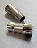 Карниз для штор металлический двойной 16+16мм ВАЛЕО Сатин никель 1.8м, фото 2