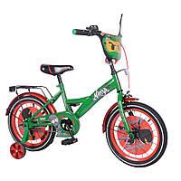 """Детский двухколесный велосипед 16"""" от 4 лет TILLY Ninja (черепашки ниндзя)"""