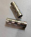 Карниз для штор металлический СИГМА двойной 16+16 мм 2.4м Сатин никель, фото 2