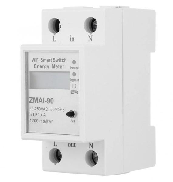 Умный WiFi счетчик электроэнергии ваттметр ZMAi-90  с управлением через WiFi  60А