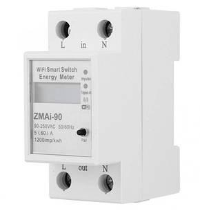 Розумний WiFi лічильник електроенергії ватметр ZMAi-90 з керуванням через WiFi 60А, фото 2