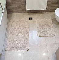 Набор ковриков TAFTING  50х60 и 60х100 (TM Zeron) песочный, Турция, фото 1
