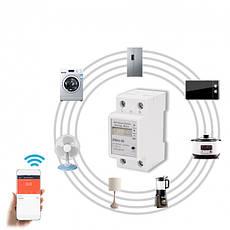 Умный WiFi счетчик электроэнергии ваттметр ZMAi-90  с управлением через WiFi  60А, фото 3