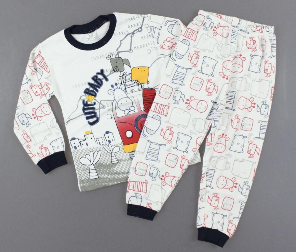 {есть:4 года,5 лет} Пижама для мальчиков,  Артикул: T4500-т.синий [4 года]