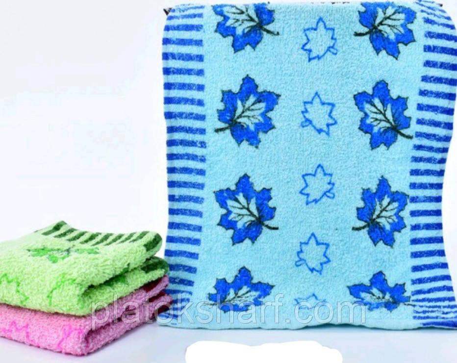 """Махровое полотенце 25х50 """"Веточки"""""""