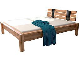 Двуспальная кровать B100 160х200 деревянная из бука ТМ Mobler