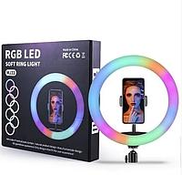 Светодиодная кольцевая лампа для селфи 33 см / LED кольцо для фото (MJ33)