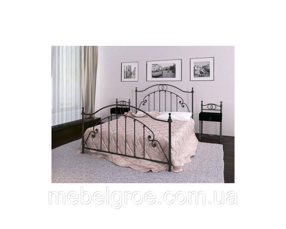 Ліжко двоспальне Флоренція 1800х2000(1900)мм тм Метал-Дизайн
