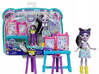 """Игровой набор Энчантималс """"День отдыха"""" кукла Скунс Сейдж и питомец Кейпер Enchantimals Mattel GJX34"""