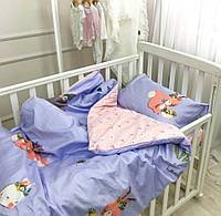 Детский комплект постельного белья Вилюта в кроватку с простынью на резинке